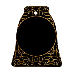 Abstract  Frame Pattern Card Bell Ornament (two Sides)