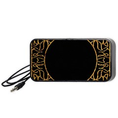 Abstract  Frame Pattern Card Portable Speaker (Black)