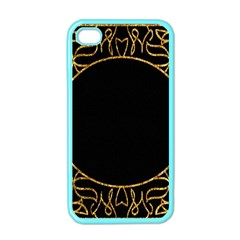 Abstract  Frame Pattern Card Apple Iphone 4 Case (color)