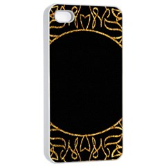 Abstract  Frame Pattern Card Apple Iphone 4/4s Seamless Case (white)