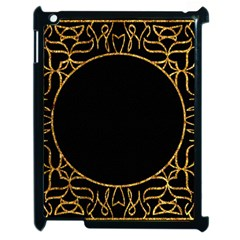 Abstract  Frame Pattern Card Apple iPad 2 Case (Black)