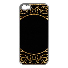 Abstract  Frame Pattern Card Apple iPhone 5 Case (Silver)