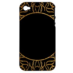 Abstract  Frame Pattern Card Apple iPhone 4/4S Hardshell Case (PC+Silicone)