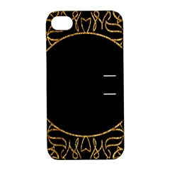 Abstract  Frame Pattern Card Apple iPhone 4/4S Hardshell Case with Stand