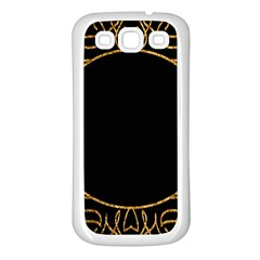 Abstract  Frame Pattern Card Samsung Galaxy S3 Back Case (White)