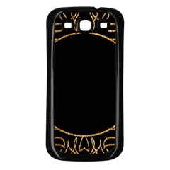 Abstract  Frame Pattern Card Samsung Galaxy S3 Back Case (Black)