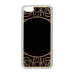 Abstract  Frame Pattern Card Apple iPhone 5C Seamless Case (White)