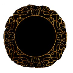 Abstract  Frame Pattern Card Large 18  Premium Flano Round Cushions