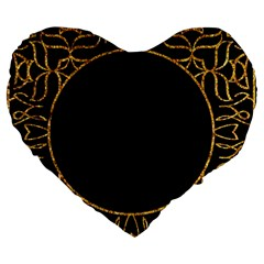 Abstract  Frame Pattern Card Large 19  Premium Flano Heart Shape Cushions