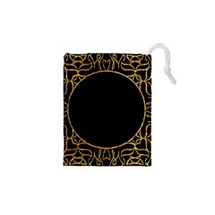 Abstract  Frame Pattern Card Drawstring Pouches (xs)