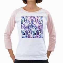 Floral Pattern Background Girly Raglans