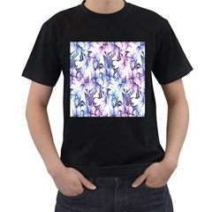 Floral Pattern Background Men s T Shirt (black) (two Sided)
