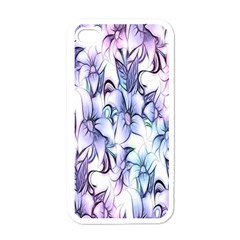 Floral Pattern Background Apple Iphone 4 Case (white)