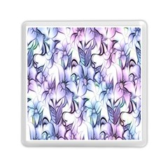 Floral Pattern Background Memory Card Reader (square)
