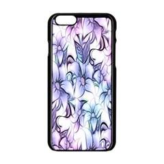 Floral Pattern Background Apple iPhone 6/6S Black Enamel Case