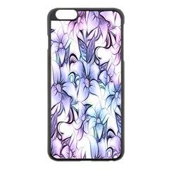 Floral Pattern Background Apple Iphone 6 Plus/6s Plus Black Enamel Case