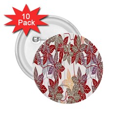 Floral Pattern Background 2 25  Buttons (10 Pack)