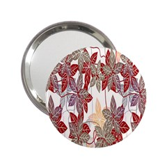 Floral Pattern Background 2 25  Handbag Mirrors