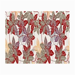 Floral Pattern Background Small Glasses Cloth (2 Side)