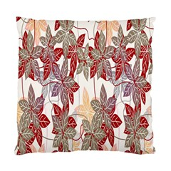 Floral Pattern Background Standard Cushion Case (two Sides)