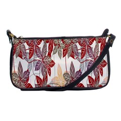 Floral Pattern Background Shoulder Clutch Bags