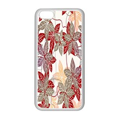Floral Pattern Background Apple iPhone 5C Seamless Case (White)