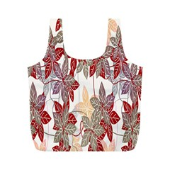 Floral Pattern Background Full Print Recycle Bags (M)