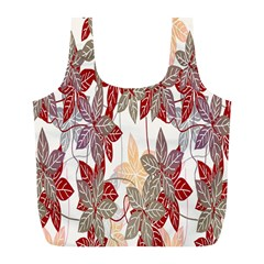 Floral Pattern Background Full Print Recycle Bags (l)
