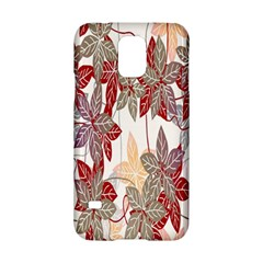 Floral Pattern Background Samsung Galaxy S5 Hardshell Case