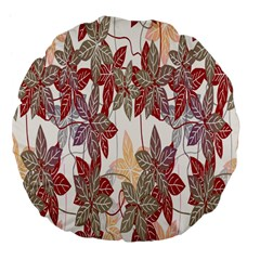 Floral Pattern Background Large 18  Premium Flano Round Cushions