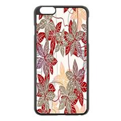 Floral Pattern Background Apple Iphone 6 Plus/6s Plus Black Enamel Case