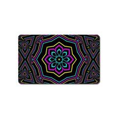Cyan Yellow Magenta Kaleidoscope Magnet (name Card)