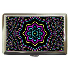 Cyan Yellow Magenta Kaleidoscope Cigarette Money Cases