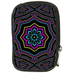 Cyan Yellow Magenta Kaleidoscope Compact Camera Cases