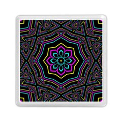 Cyan Yellow Magenta Kaleidoscope Memory Card Reader (square)