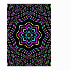 Cyan Yellow Magenta Kaleidoscope Large Garden Flag (Two Sides)