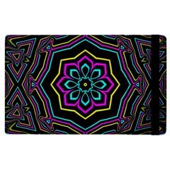 Cyan Yellow Magenta Kaleidoscope Apple Ipad 2 Flip Case
