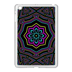 Cyan Yellow Magenta Kaleidoscope Apple iPad Mini Case (White)