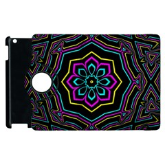 Cyan Yellow Magenta Kaleidoscope Apple iPad 2 Flip 360 Case