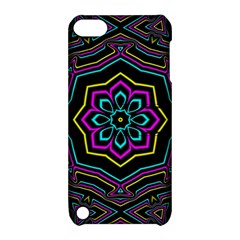 Cyan Yellow Magenta Kaleidoscope Apple iPod Touch 5 Hardshell Case with Stand
