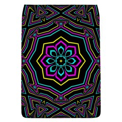Cyan Yellow Magenta Kaleidoscope Flap Covers (L)