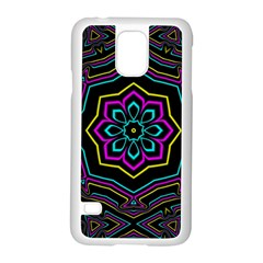 Cyan Yellow Magenta Kaleidoscope Samsung Galaxy S5 Case (White)