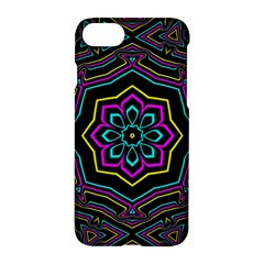 Cyan Yellow Magenta Kaleidoscope Apple Iphone 7 Hardshell Case