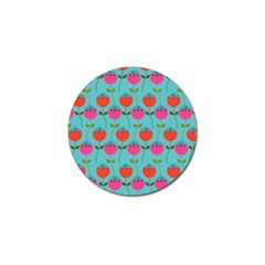 Tulips Floral Background Pattern Golf Ball Marker (10 pack)
