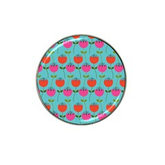 Tulips Floral Background Pattern Hat Clip Ball Marker