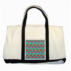 Tulips Floral Background Pattern Two Tone Tote Bag