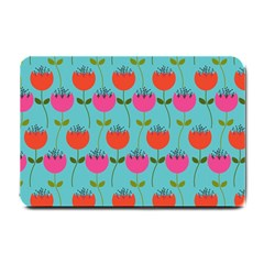 Tulips Floral Background Pattern Small Doormat