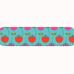 Tulips Floral Background Pattern Large Bar Mats