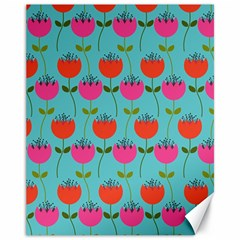 Tulips Floral Background Pattern Canvas 11  X 14