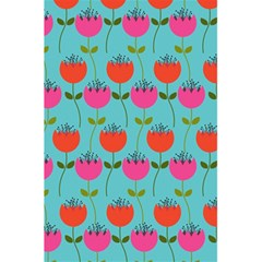 Tulips Floral Background Pattern 5 5  X 8 5  Notebooks